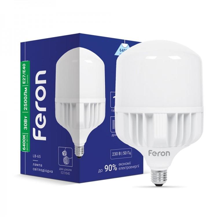 Світлодіодна лампа Feron LB-65 30W E27-E40 6400K