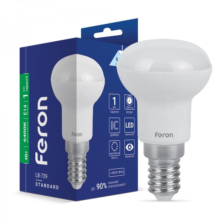 Светодиодная лампа Feron LB-739 4W E14 6400K