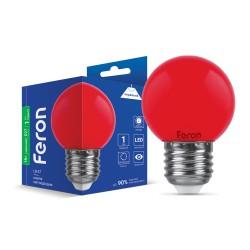 Світлодіодна лампа Feron LB-37 1W E27 червонa