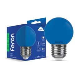 Світлодіодна лампа Feron LB-37 1W E27 синя