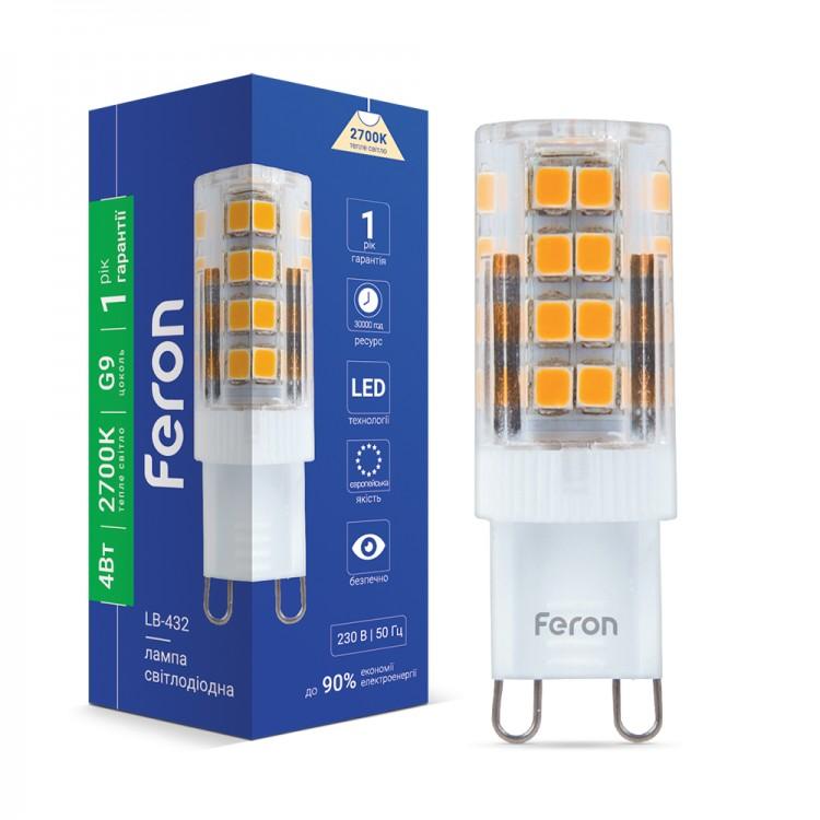 Світлодіодна лампа Feron LB-432 4W G9 2700K