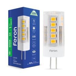 Світлодіодна лампа Feron LB-423 4W 12V G4 4000K