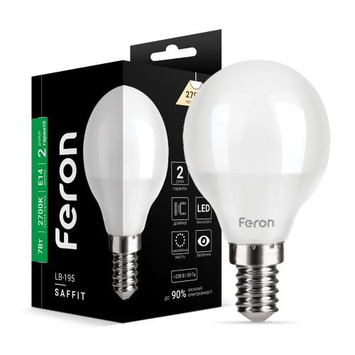 Светодиодная лампа Feron LB-195 7W E14 2700K