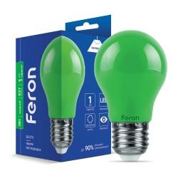 Світлодіодна лампа Feron LB-375 3W E27 зелена