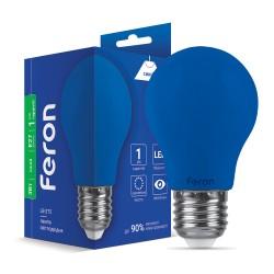 Світлодіодна лампа Feron LB-375 3W E27 синя