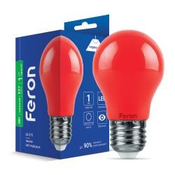 Світлодіодна лампа Feron LB-375 3W E27 червона