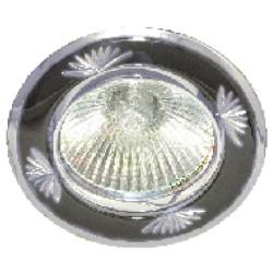 Встраиваемый светильник Feron 246DL черный металлик серебро