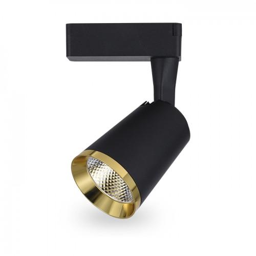 Трековый светильник Feron AL111 10W чорный-золото