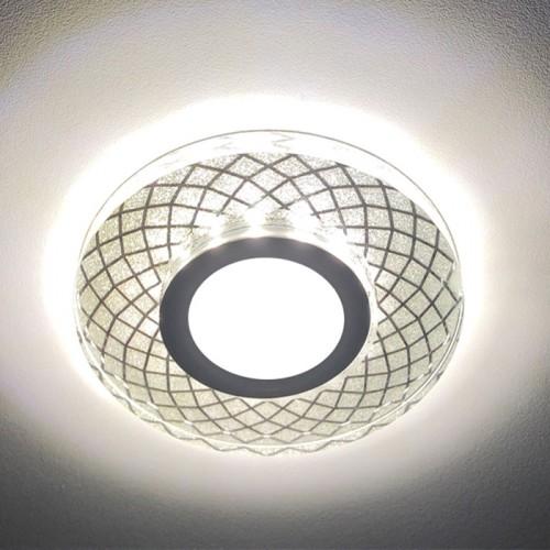 Встраиваемый светильник Feron CD833 с LED подсветкой