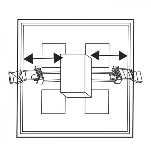 Встраиваемый светодиодный светильник Feron AL706 24W