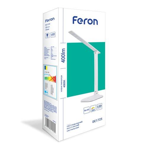 Настільний світлодіодний світильник Feron DE1725 9W 4000K