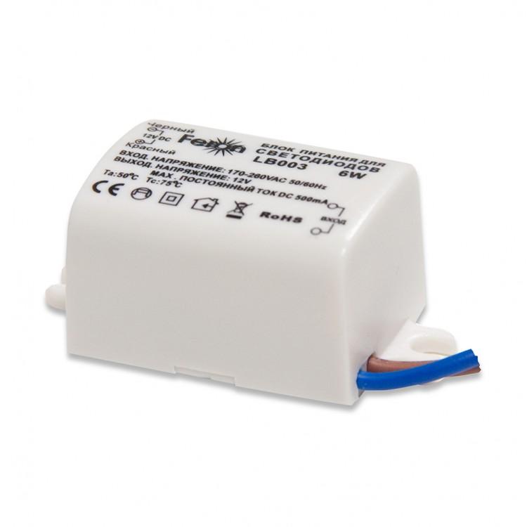 Трансформатор электронный Feron LB003 6W IP20