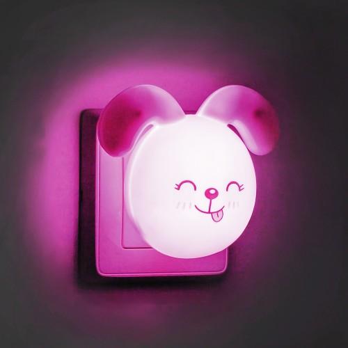 Светильник ночник Feron FN1167 зайчик ушки вниз розовый