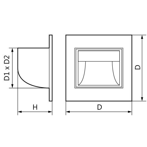 Встраиваемый светильник Feron JD12 серебряный
