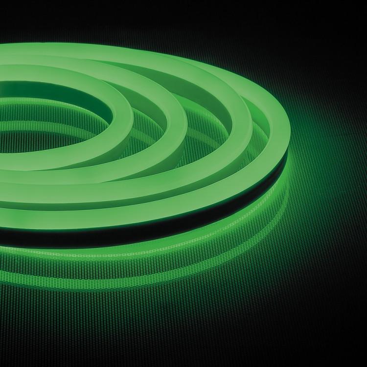 Светодиодная неоновая лента Feron LS720 120SMD/м 220V IP65 зеленый