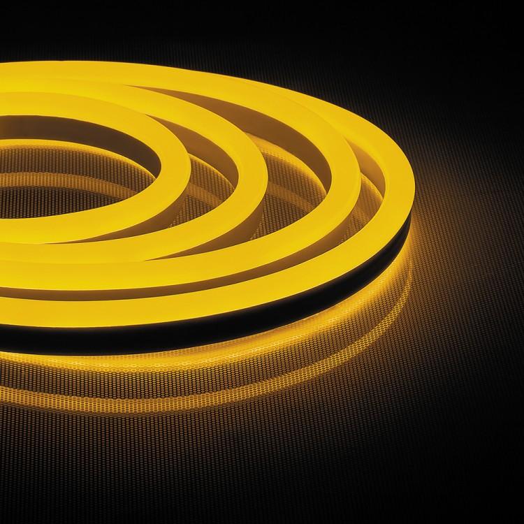 Світлодіодна неонова стрічка Feron LS720 120SMD / м 220V IP65 жовтий