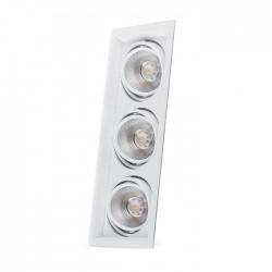 Карданный светильник Feron AL203 3xCOB 12W белый