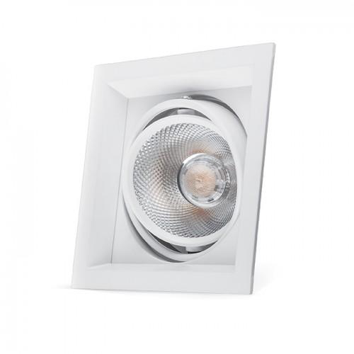 Карданный светильник Feron AL201 COB 20W белый