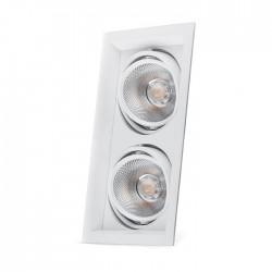 Карданний світильник Feron AL202 2xCOB 20W білий