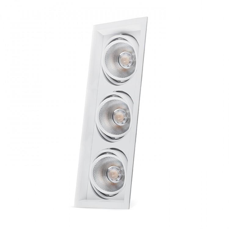 Карданний світильник Feron AL203 3xCOB 20W білий