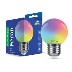 Світлодіодна лампа Feron LB-37 1W E27 RGB