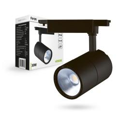 Трековый светильник Feron AL103 30W черный угод рассеивания 60