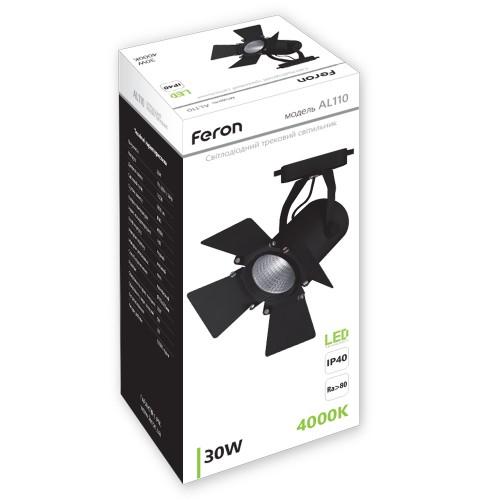 Трековый светильник Feron AL110 30W черный