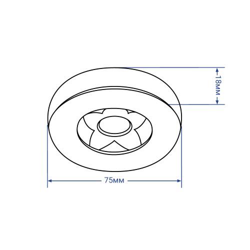 Светодиодный светильник Feron AL520 7W черный