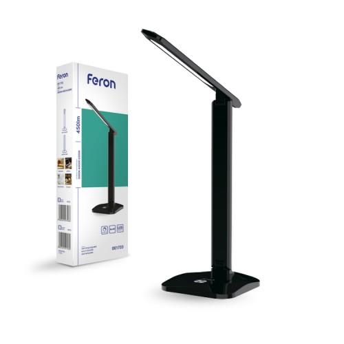 Настольный светодиодный светильник Feron DE1733 черный
