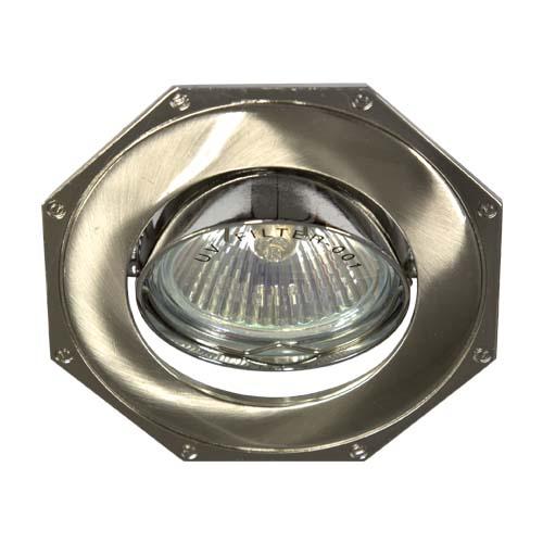 Встраиваемый светильник Feron 305Т MR-16 титан хром