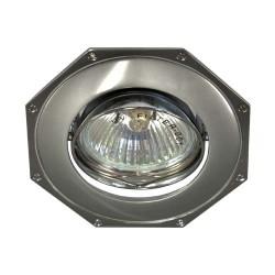 Встраиваемый светильник Feron 305Т MR-16 серый хром