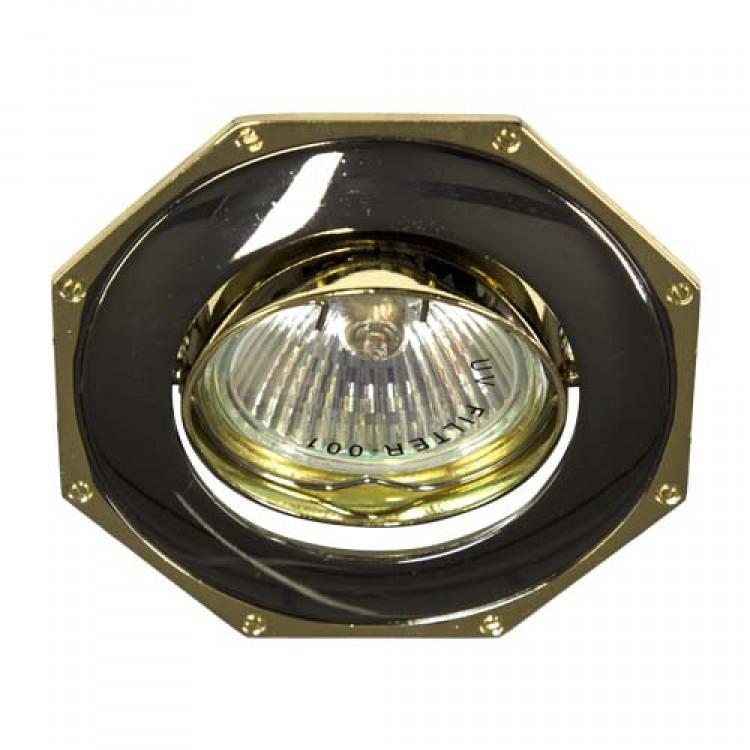 Встраиваемый светильник Feron 305Т MR-16 черный золото