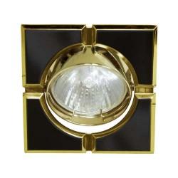 Встраиваемый светильник Feron 098T MR-16-S черный золото