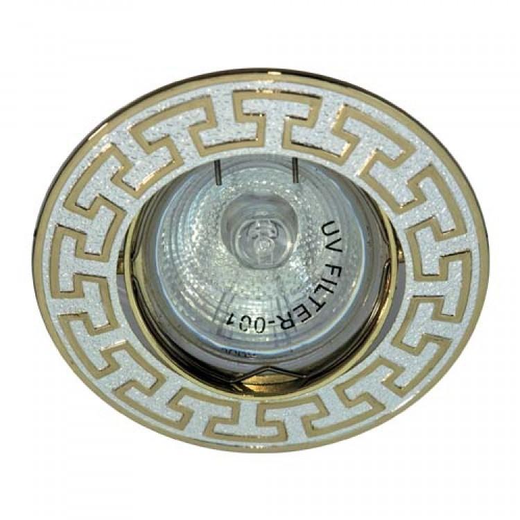 Встраиваемый светильник Feron 2008DL MR-16 серебро золото