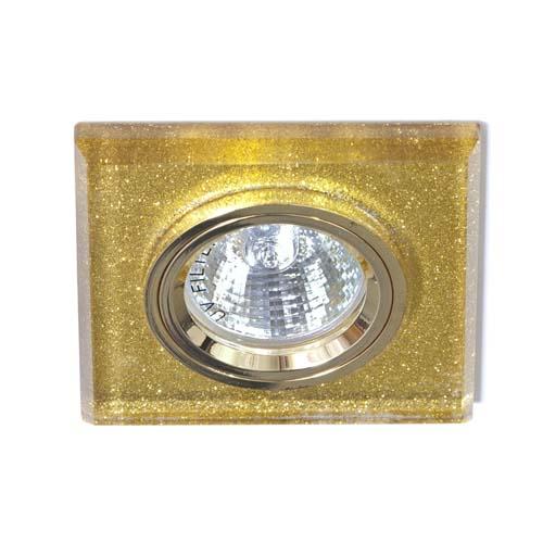 Встраиваемый светильник Feron 8170-2 мерцающее золото-золото