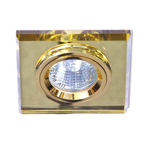 Встраиваемый светильник Feron 8170-2 желтый золото