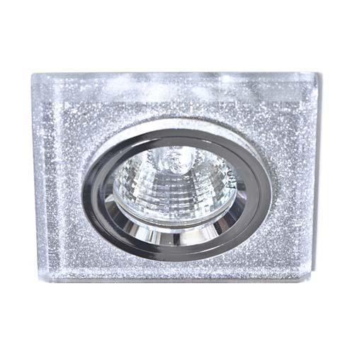 Встраиваемый светильник Feron 8170-2 мерцающее серебро-серебро