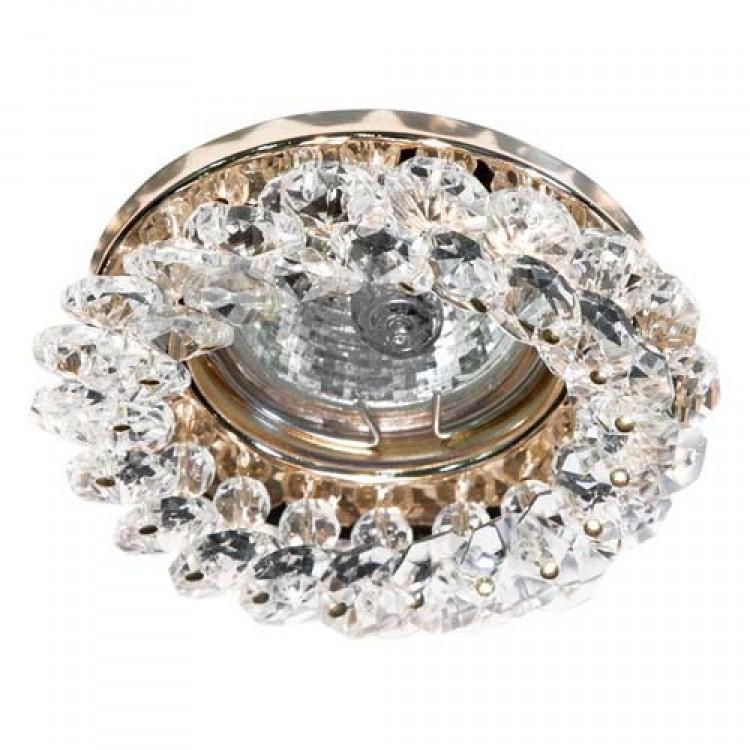 Встраиваемый светильник Feron CD4141 прозрачный золото