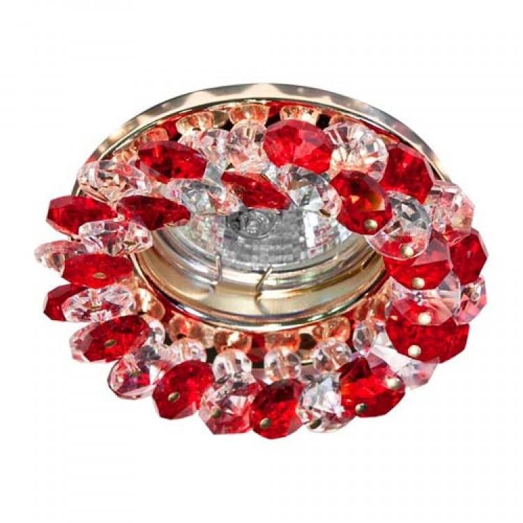 Встраиваемый светильник Feron CD4141 красный золото