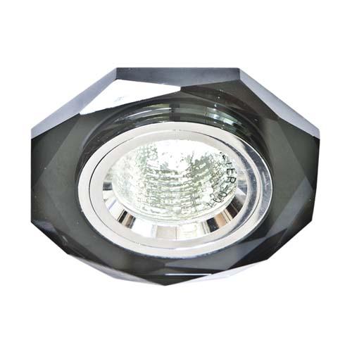 Встраиваемый светильник Feron 8020-2 серый серебро