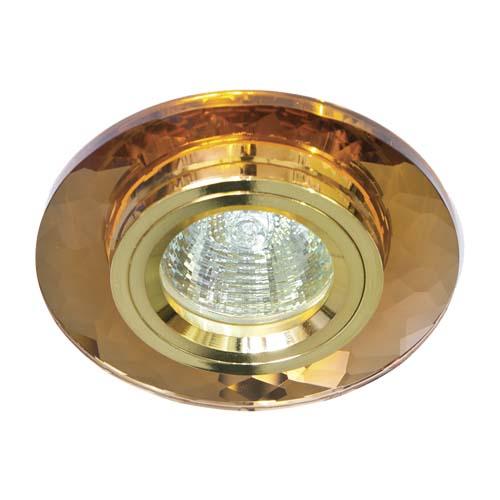 Встраиваемый светильник Feron 8050-2 коричневый золото