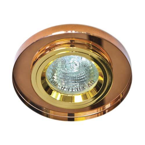 Встраиваемый светильник Feron 8060-2 коричневый золото