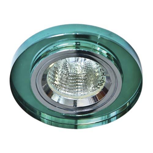 Встраиваемый светильник Feron 8060-2 зеленый серебро