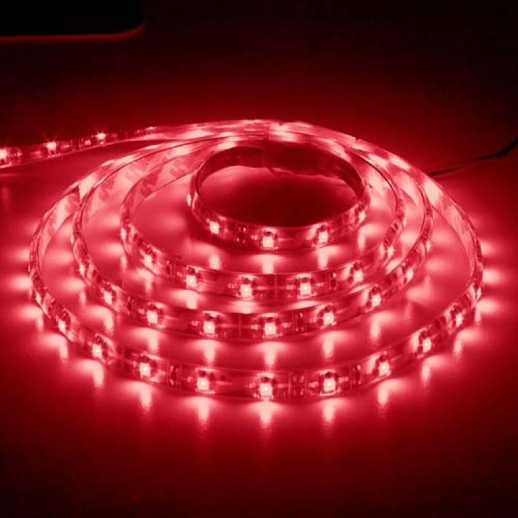 Світлодіодна стрічка Feron SANAN LS604 60SMD / м 12V IP65 червоний