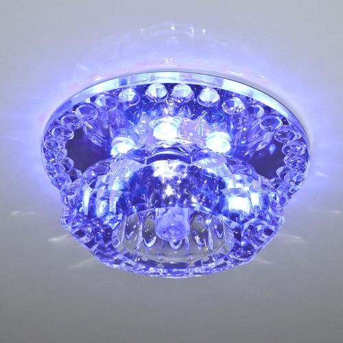 Встраиваемый светильник Feron JD125 c LED подсветкой RGB