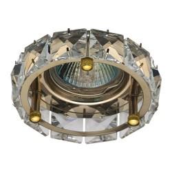 Встраиваемый светильник Feron CD4525 прозрачный золото
