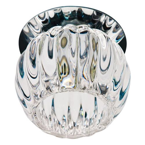 Встраиваемый светильник Feron JD93 прозрачный матовый хром