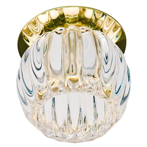 Встраиваемый светильник Feron JD93 прозрачный матовый золото
