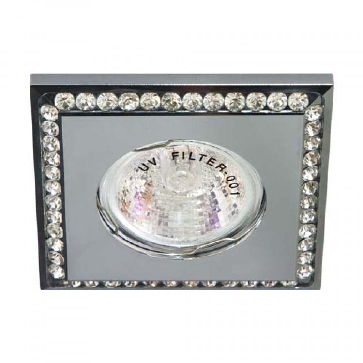 Встраиваемый светильник Feron DL102-С прозрачный хром