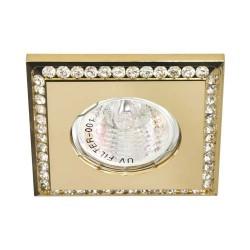 Встраиваемый светильник Feron DL102-C прозрачный золото